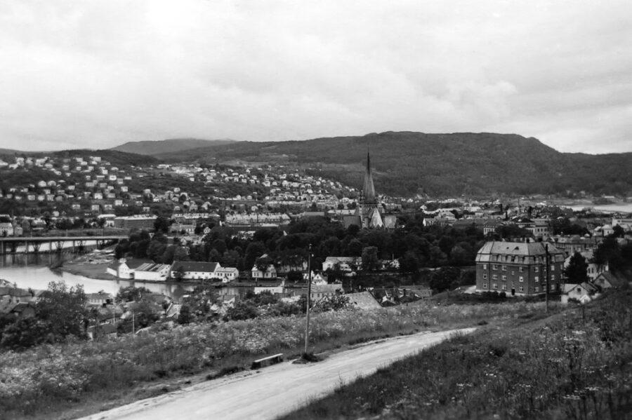 Utsikten över Trondheim från Cristiansten.