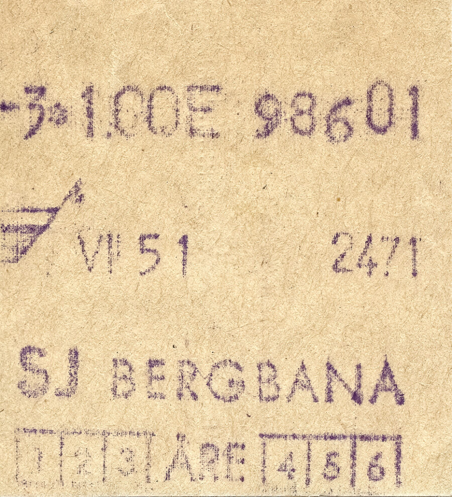 Biljett till Årebanan.