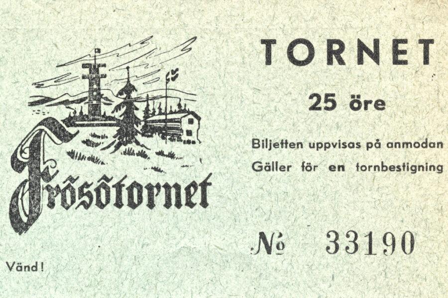 Biljett till Frösötornet.