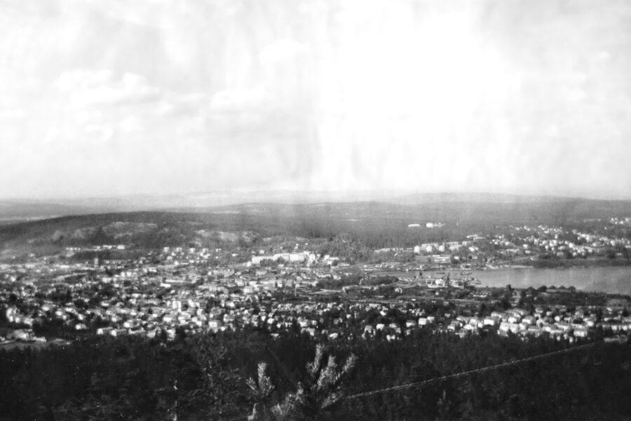 Sundsvall sett från tornet på Södra Stadsberget.