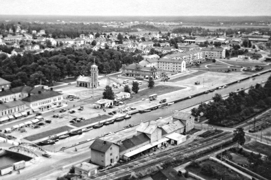 Söderhamn sett från Oscarsborg.