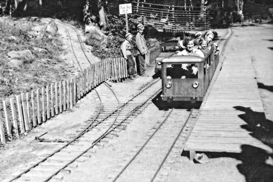 Tåget på Furuvik var populärt bland barnen.