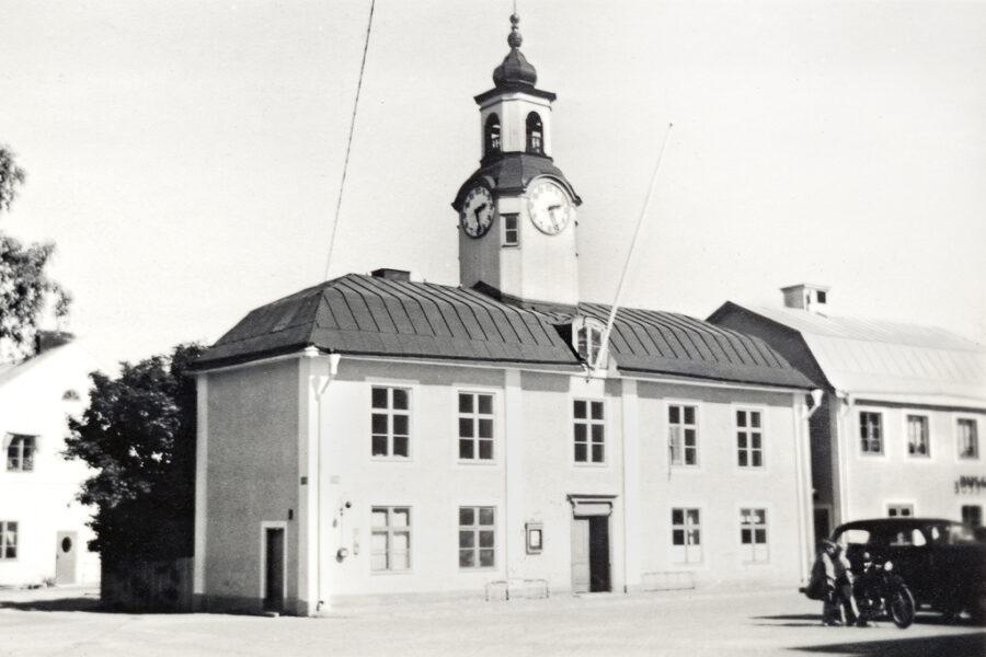 Östhammars rådhus var litet och fint.