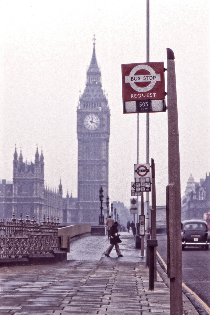 Busshållplats.