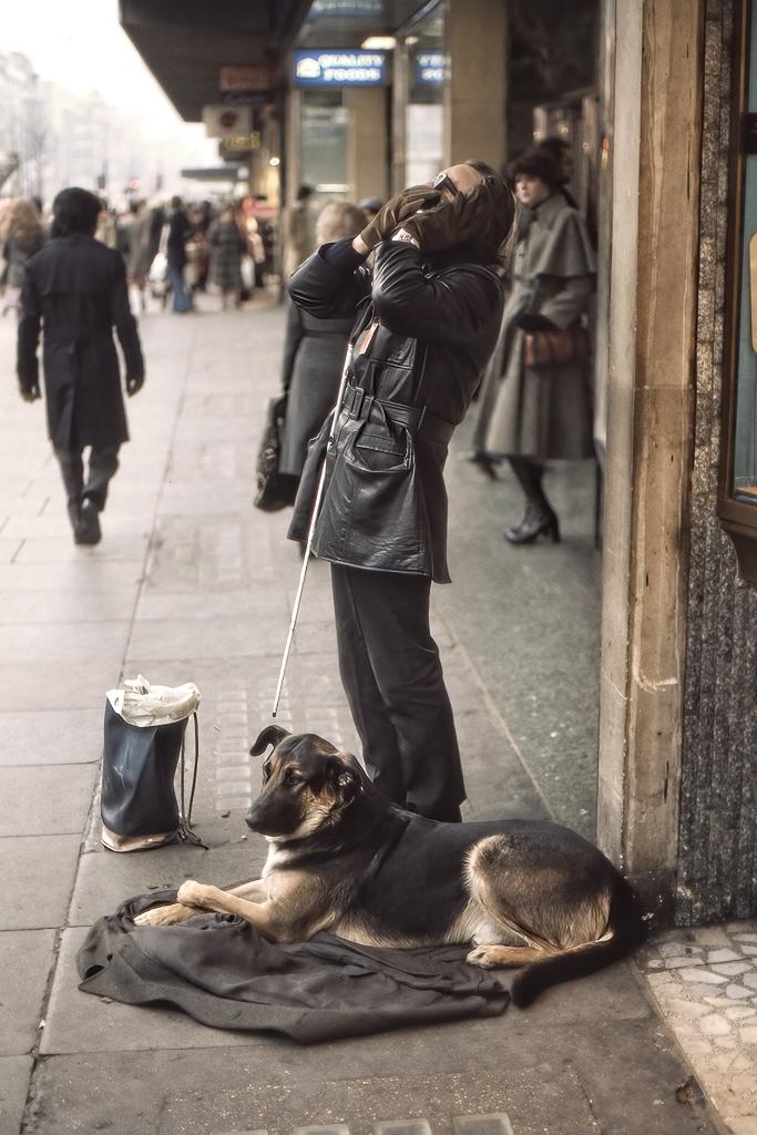 Blind tiggare.